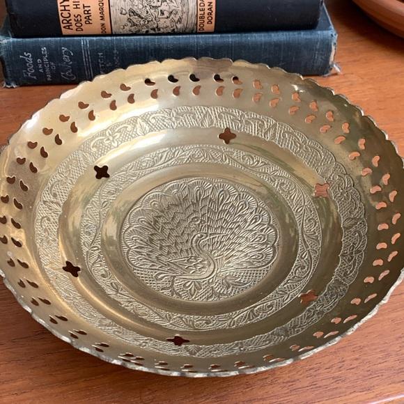 SOLD! Vintage brass bowl